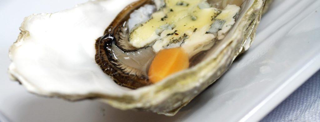 Huîtres chaudes à la Fourme d'Ambert