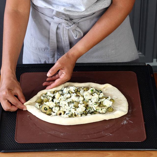 Étape 3 - Recette Pidde pizza à la Fourme d'Ambert