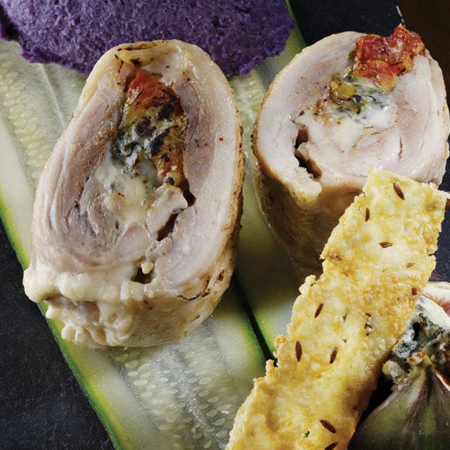 Ballottine de poulet farcie à la Fourme d'Ambert