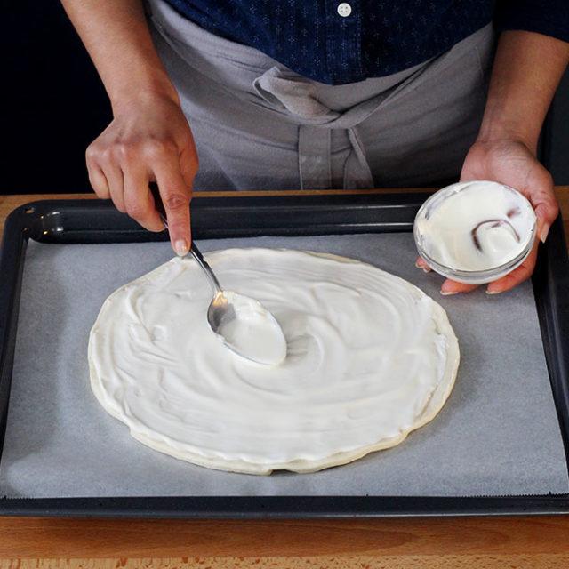 Étape 3 - Recette Pizza Fourme d'Ambert et poire