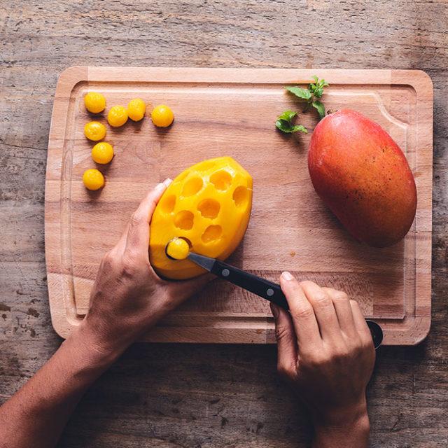 Étape 5 - Recette Verrines de mangue et Fourme d'Ambert