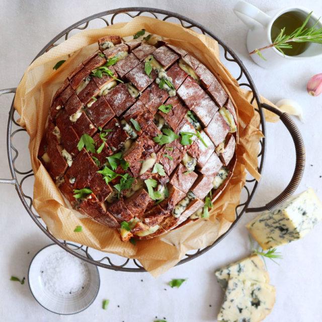 Käse – Zupfbrot ohne Kneten