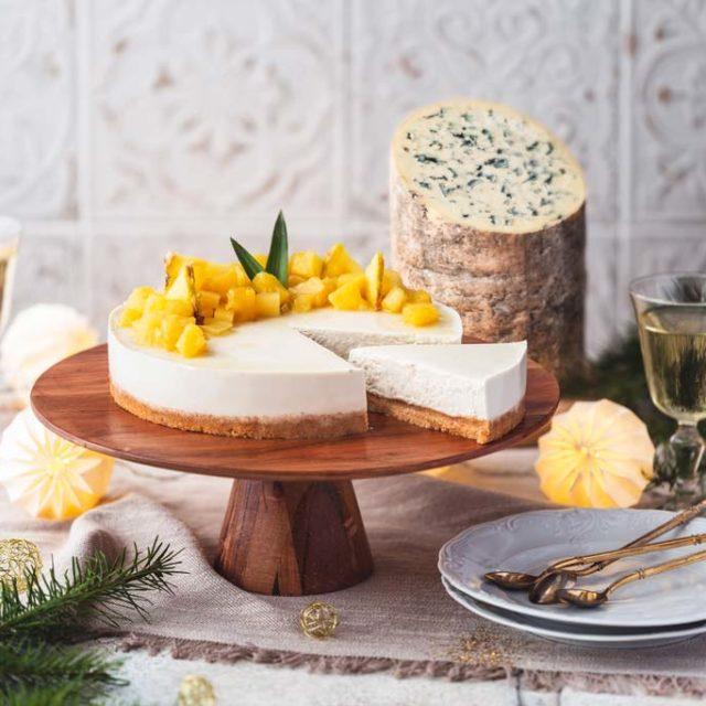 Cheesecake à l'AOP Fourme d'Ambert et sa compotée d'ananas