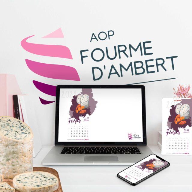 Un calendrier 2021 pour la Fourme d'Ambert