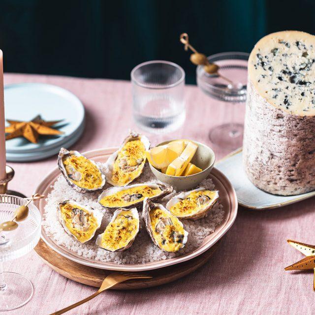 Huîtres au sabayon à l'AOP Fourme d'Ambert