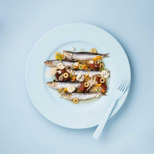 Sardines escabèche à la Fourme d'Ambert
